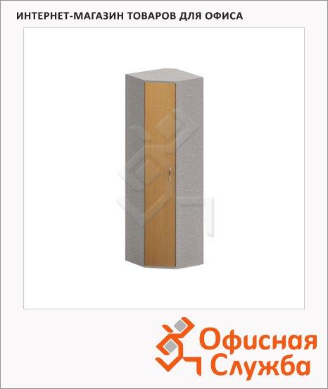 Гардероб Skyland Imago ГБ-3, 600х600х1975мм, клен/металлик