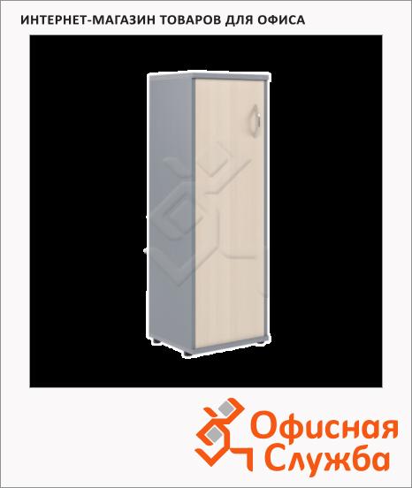 фото: Шкаф-колонка Skyland Imago СУ-2.3 левый, 403х365х1200мм, клен/металлик