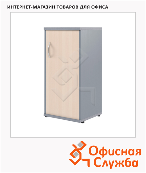 фото: Шкаф-колонка Skyland Imago СУ-3.1 правый, 403х365х823мм, клен/металлик
