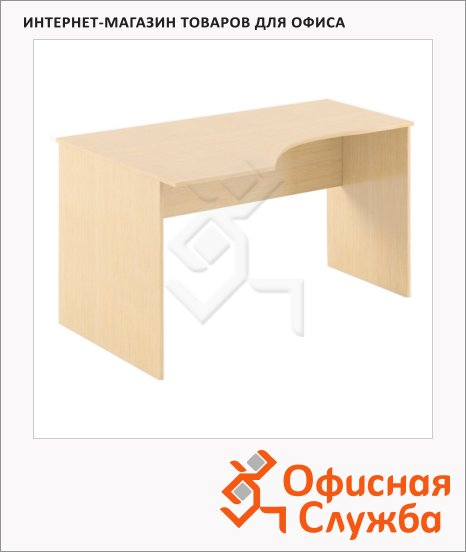 фото: Стол письменный Skyland Simple SE-1600 эргономичный, левый, 1600х900х760мм, легно светлый