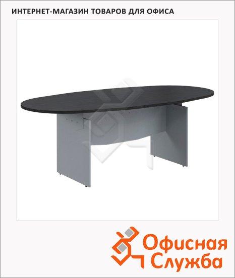 фото: Стол переговорный Skyland Offix NEW OST 2211 2200x1100x750мм, легно темный/металлик