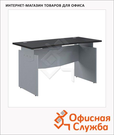 фото: Стол письменный Skyland Offix NEW OST 127 эргономичный, 1200x640x750мм, легно темный/металлик