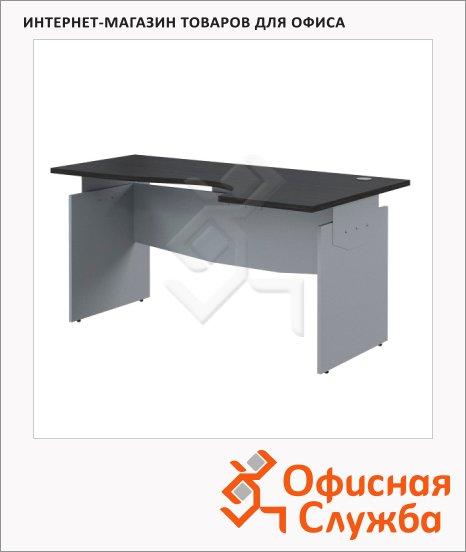 фото: Стол письменный Skyland Offix NEW OCET 149 эргономичный, правый, 1400x860x750мм, легно темный/металлик