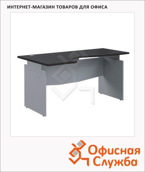 Стол письменный Skyland Offix NEW OCET 169, эргономичный, левый, 1600x860x750мм, легно темный/металлик