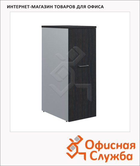 Тумба Skyland Offix NEW ODMS 660, с выдвижной секцией, 430х660х1164мм, легно темный/металлик