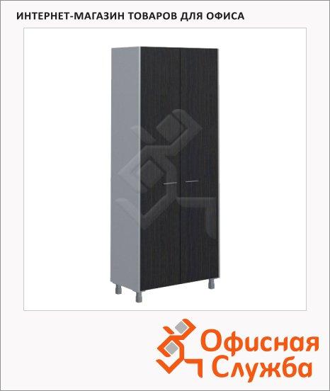 Шкаф Skyland Offix NEW OHC 87.1, 874х450х2147мм, с глухими дверьми, легно темный/металлик