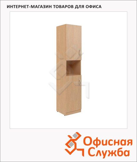 Шкаф-колонка Skyland Simple SR-5U.4, левый, две глухие малые двери, легно светлый, 386х375х1815мм
