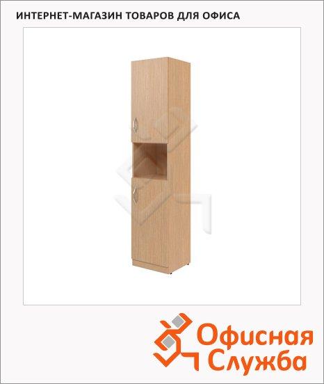 фото: Шкаф-колонка Skyland Simple SR-5U.4 правый, 386х375х1815мм, две глухие малые двери, легно светлый