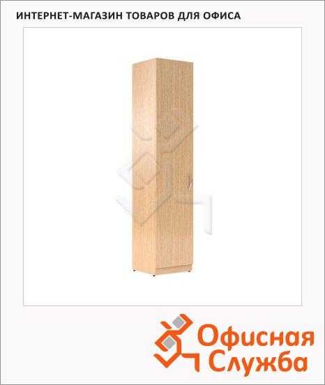 Шкаф-колонка Skyland Simple SR-5U.1, левый, 386х375х1815мм, с глухой дверью, легно светлый
