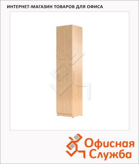 Шкаф-колонка Skyland Simple SR-5U.1, правый, 386х375х1815мм, с глухой дверью, легно светлый