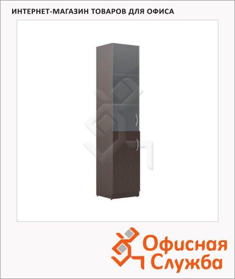 Шкаф-колонка Skyland Simple SR-5U.2, левый, 386х375х1815мм, комбинированый, легно темный