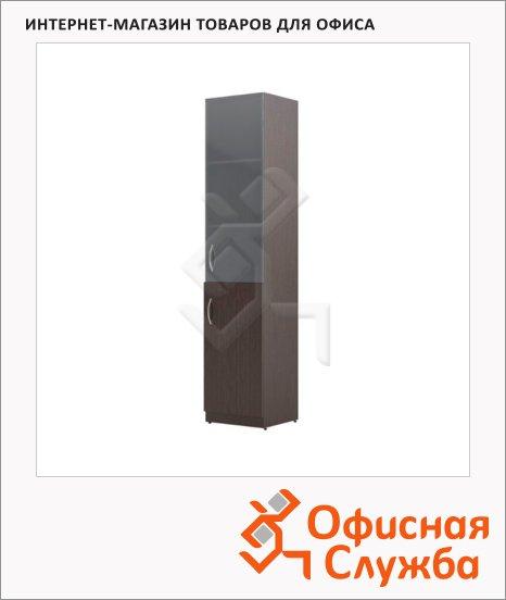Шкаф-колонка Skyland Simple SR-5U.2, правый, 386х375х1815мм, комбинированый, легно темный
