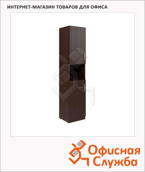 Шкаф-колонка Skyland Simple SR-5U.4, левый, две глухие малые двери, легно темный, 386х375х181мм