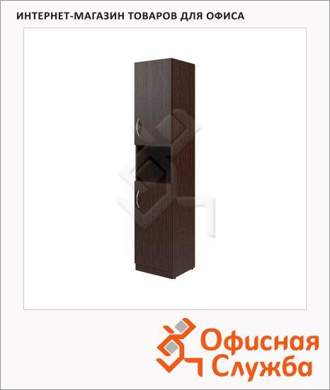фото: Шкаф-колонка Skyland Simple SR-5U.4 правый, 386х375х1815мм, две глухие малые двери, легно темный