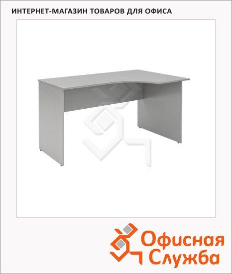 фото: Стол письменный Skyland Simple SE-1400 эргономичный, правый, 1400х900х760мм, серый