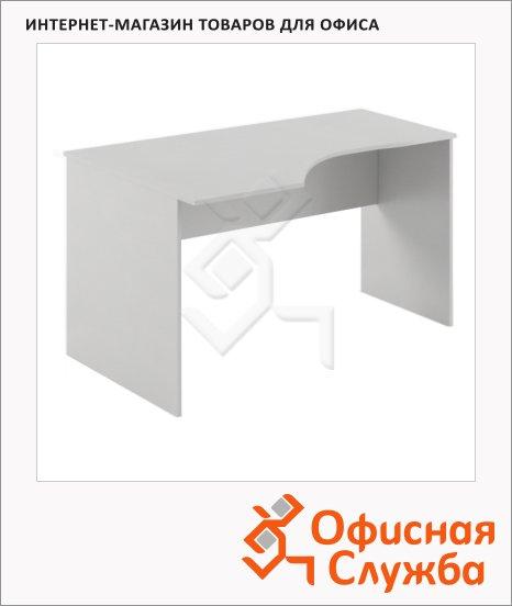 Стол письменный Skyland Simple SE-1600, эргономичный, левый, 1600х900х760мм, серый