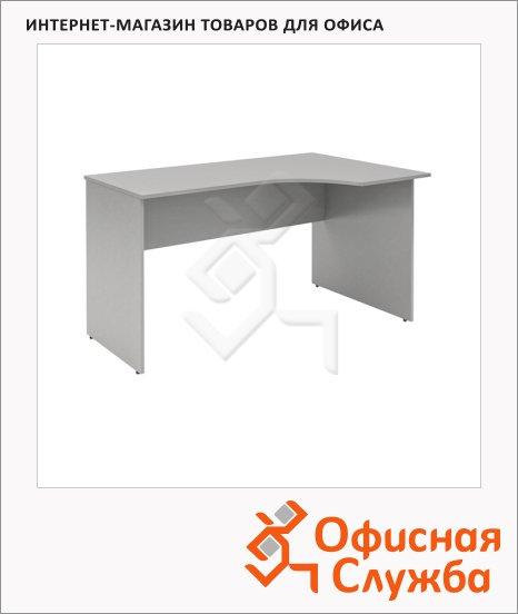 Стол письменный Skyland Simple SE-1600, эргономичный, правый, 1600х900х760мм, серый