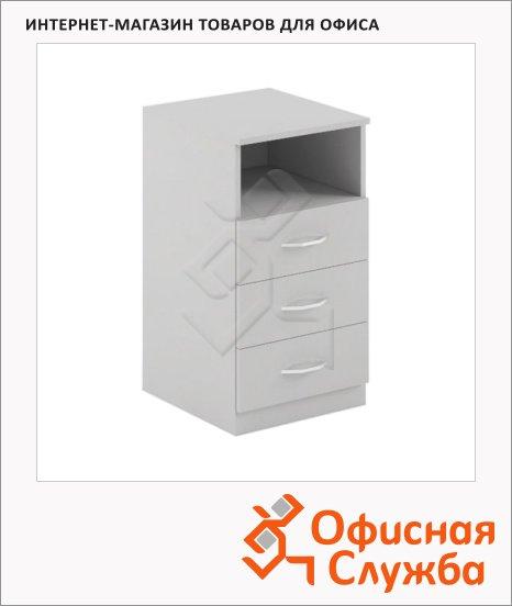 Тумба приставная Skyland Simple SC-3D.1, 412х450х760мм, серый