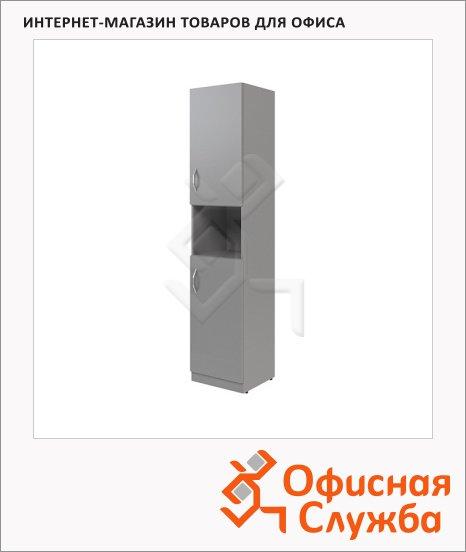 фото: Шкаф-колонка Skyland Simple SR-5U.4 правый, 386х375х1815мм, две глухие малые двери, серый