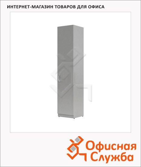 фото: Шкаф-колонка Skyland Simple SR-5U.1 правый, 386х375х1815мм, с глухой дверью, серый