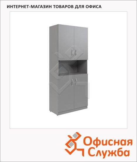 Шкаф Skyland Simple SR-5W.4, 770x375х1815мм, 2 комплектаглухих малых дверей, серый