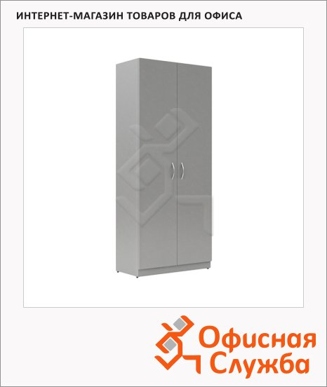 Шкаф Skyland Simple SR-5W.1, 770х375х1815мм, с глухими дверьми, серый