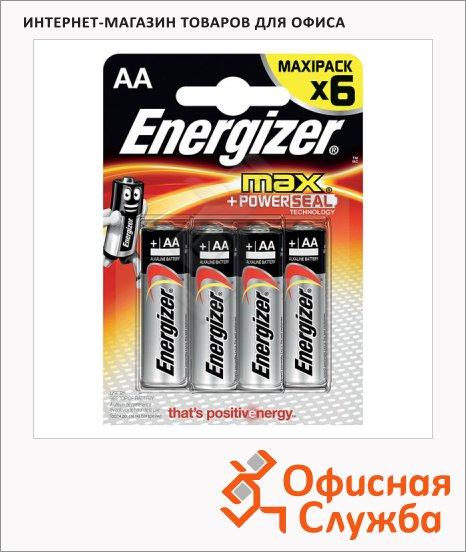 фото: Батарейка Energizer Max АА/LR6 1.5В, алкалиновая, 6шт/уп