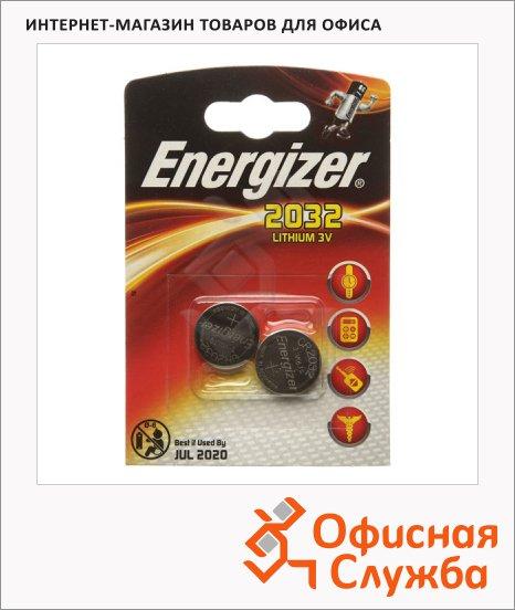 фото: Батарейка Energizer CR2032 литиевая, 2шт/уп