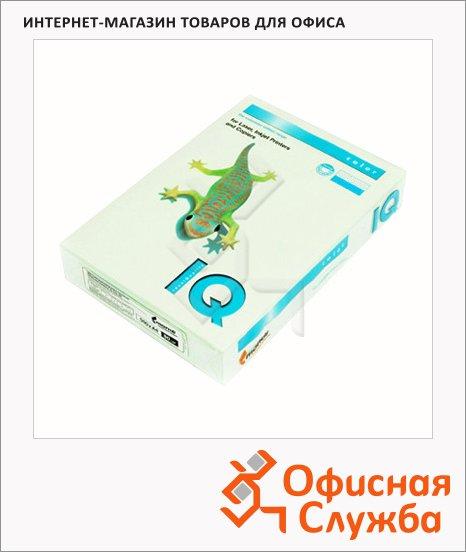 Цветная бумага для принтера Iq Color светло-зеленая, А4, GN27, 500 листов, 80г/м2