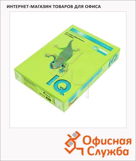 Цветная бумага для принтера Iq Color зеленая липа, А4, 500 листов, 80г/м2, LG46