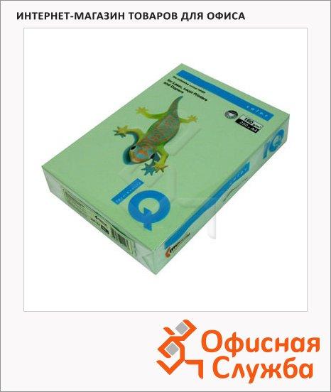 Цветная бумага для принтера Iq Color зеленая, А4, MG28, 100 листов, 80г/м2