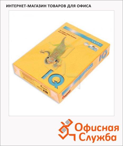 Цветная бумага для принтера Iq Color оранжевый неон, А4, 500 листов, 80г/м2, NEOOR