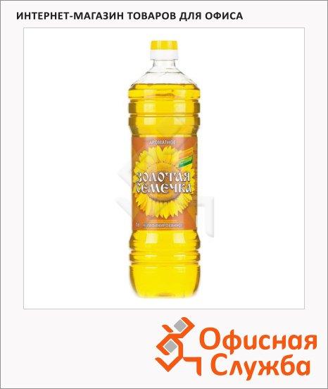 фото: Масло подсолнечное Золотая Семечка нерафинированное 1л
