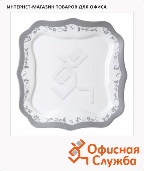 фото: Тарелка десертная Authentic Silver белая 20.5см