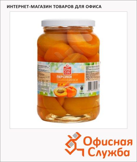 Консервированные фрукты Fine Life персики половинки, 1650г