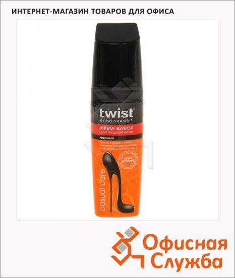 фото: Крем-блеск для обуви Twist Casual черный 75мл
