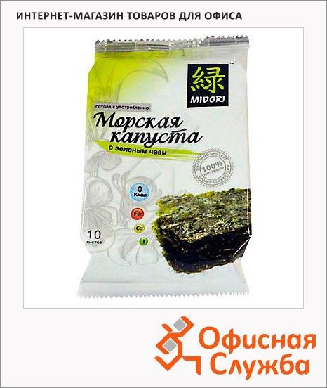 Чипсы Мидори из морской капусты с зеленым чаем, 5г