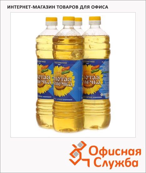 Масло растительное Золотая Семечка нерафинированное, 4шт х 1л