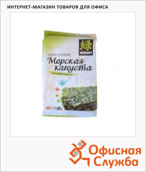 Чипсы Мидори из морской капусты в оливковом масле, 5г,