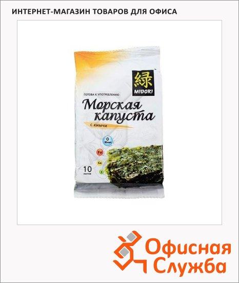 Чипсы Мидори из морской капусты с кимчи, 5г