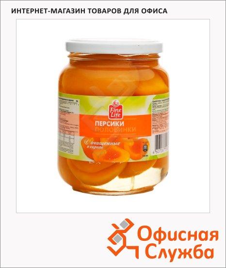 Консервированные фрукты Fine Life персики в сиропе, 660г