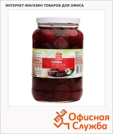 Консервированные фрукты Fine Life слива красная, 1650г