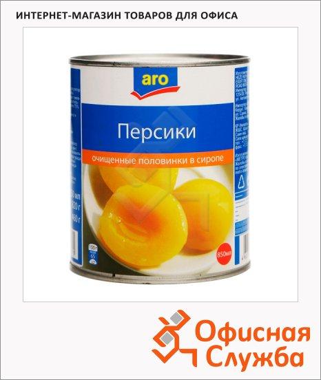 Консервированные фрукты Aro персики половинки, 850г