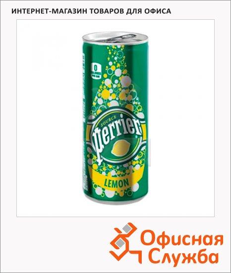 Вода минеральная Perrier ароматизированная газ 0.25л лимон, ж/б