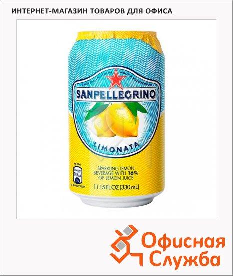 Напиток газированный Sanpellegrino лимон, ж/б, 0.33л х 6шт