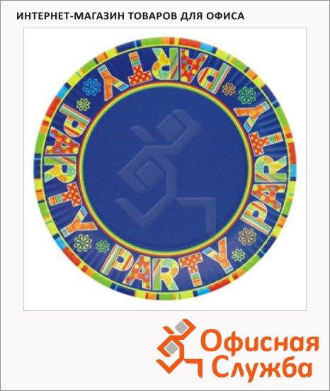 Тарелка одноразовая Papstar Party 23см, 10шт/уп