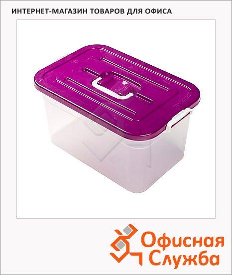 фото: Ящик для хранения с крышкой Полимербыт пластиковый 15л