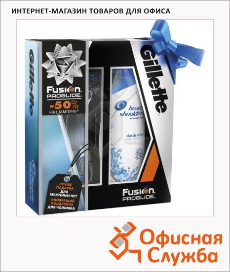 фото: Подарочный набор Fusion Proglide бритва, сменная кассета, шампунь