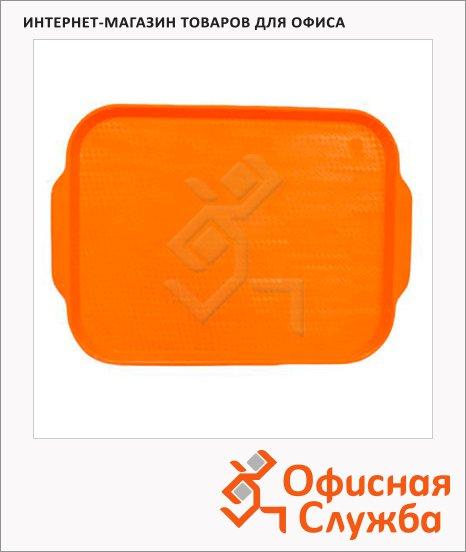 фото: Поднос для фаст-фуда Horeca оранжевый 45х35.5см