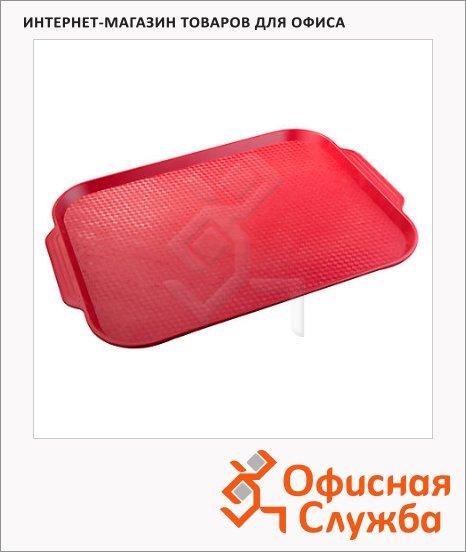 фото: Поднос для фаст-фуда Horeca красный 45х35.5см